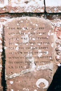 Memorial stone to Lilias of Ancrum