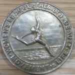 Women's League of Health and Beauty pin, Glasgow Women's Library