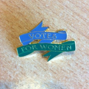 Modern Votes for Women Pin